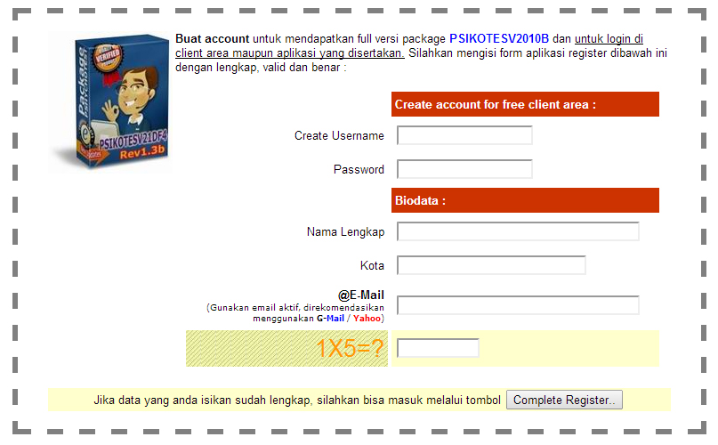 cara registrasi software tes psikotes 1
